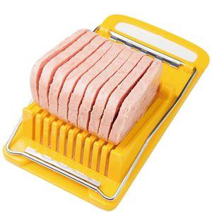Luncheon Meat Slicer gekochtes Ei Fruit Slicer Edelstahl weiche Speisen Käse Sushi Cutter Fleischkonserven Schneidewerkzeug JK2001