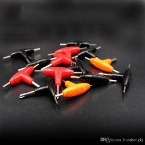 Торцевой ключ Ремонт Малый Т-образный отверток Mini Cross шестигранная отвертка Отвертка Специально для RDA RBA Atomizer Аксессуары Vape инструмент