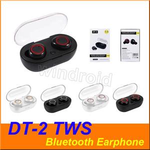 DT2 DT2 Auriculares inalámbricos Bluetooth Headset Bluetooth 5.0 auriculares TWS Deportes auriculares auricular para juegos 3D para auriculares estéreo inalámbrico de 4 colores