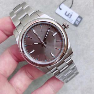 Отлично Мужская мода наручные часы Oyster Perpetual 114300 DRSO Dark родий Циферблат 39мм Часы Mint Condition 2813 Движение Автоматический