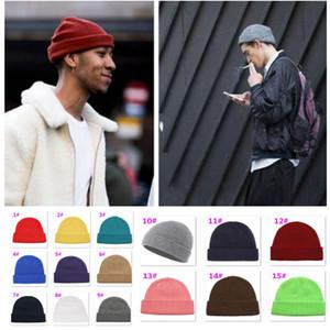 Uomini maglia cappello in lana misto beanie skullcap cap senza fili hip hop cappelli casual nero navy grigio retrò vintage donne maglia cappelli xmas xmas xd22805