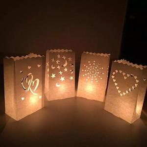 Paper Lantern Wedding Tea Light Candle Holder Candle Bag Romantic Home Wedding Party Decoration Supplies Jk0285