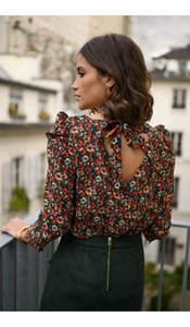 Designer Womens Shirts Popular Luxury Long Sleeves Blouses Bow Decorated Vintage Flora Printed High Fashion Tops