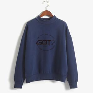 Brand New Fashion Herbst Winter Fleece Frauen Hoody Harajuku Got7 Nette Kpop Hoodies Sweatshirts Moletom Pullover Top