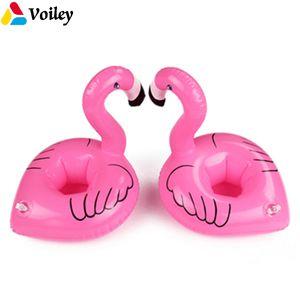 VOILEY Mini Unicorn Pembe Flamingo Şişme Bira Bardak Tutucu Hawaii Tropikal Içme Yüzen Karnaval Parti Dekor Supplie, 0