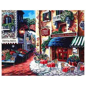 Framless Diy Oil Painting Paint By Number Kits Home Decor Wall Pic Value Gift-Taste of Italy 16X20 Inch