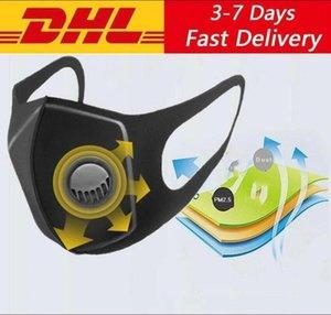 스폰지 재사용 PM2.5 보호 얼굴 입 마스크 검은 색 와이드 스트랩 Mascherine 세척 인공 호흡기 마스크 Fy0002 값 디자이너 필터
