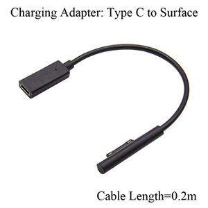 Для Microsoft surface Pro3 Pro4 Pro5 Pro6 Pro7 Book Laptop GO Charging Adapter TypeC USBC Female to Surface Pro 5 6 7 соединительный кабель