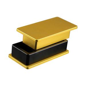 Aluminiummetall Pollen Presse Compressor Herb Tabak Presser 3x5 Zoll Goldene Crusher Grinder für Raucher Bong Wasserpfeife