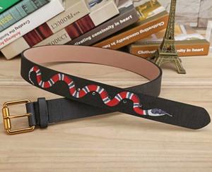 Новая мода Мужские ремни Бизнес Snake Черный и зеленый Ceinture Автоматическая пряжка из натуральной кожи Ремни для мужчин талии ремни для женщин
