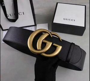 correa de cuero de lujo de moda de la señora grande hebilla lisa cinturones negro y rojo cinturón de cuerpo de la correa ancho de 7 cm de buena calidad 2019 venta caliente Luxurybox