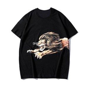 Luxury Mens Designer T Shirt Fashion Lion Printing Designer T Shirt Short Sleeves High Quality Men Women Hip Hop Tees