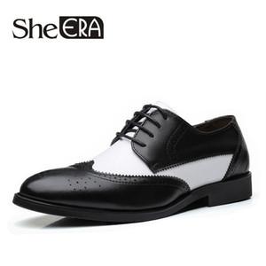 2019 nuevo lujo de cuero genuino para hombre oxfords zapatos de vestir con cordones hombres negro burdeos traje zapato oficina de negocios hombres zapatos formales