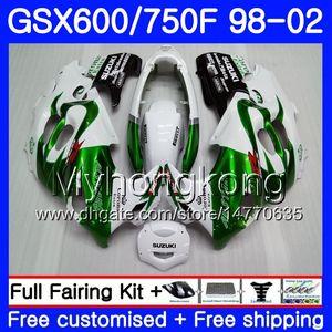 Vücut İçin SUZUKI KATANA GSXF 600 750 GSXF750 98 99 00 01 02 292HM.6 GSX 750F 600F Yeşil SICAK yeni GSXF600 1998 1999 2000 2001 2002 Fairing