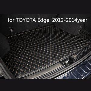Ford Kenar 2012-2014year araç kaymaz mat için özel bir anti-patinaj deri araba bagajı paspas paspas uygun