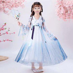 Costume Tradizionale Cinese intrattenimento musiche e canzoni del vestito dalla ragazza vestiti di estate cinese Cospaly principessa Dress per la ragazza Déguisement Princesse Fille