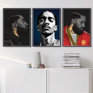 Hot Nipsey Hussle Hip Hop Rapper Music Singer Star Poster Prints Art Canvas Oil Painting Wall Pictures Living Room Home Decor