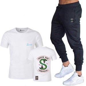 Riverdale Avrupa ve Amerikan moda erkek tişört yaz Harajuku gömlek güney tarafı yılan pantolon Riverdale Yılan komik bir retro takım yazdırmak
