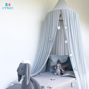Pamuk Bebek Beşik Netleştirme Yaz şifon Katı Renk Bebek Sivrisinek Dome Çadır Perde Çocuk Odası Dekorasyon Yatak Seti T200615 Yatak
