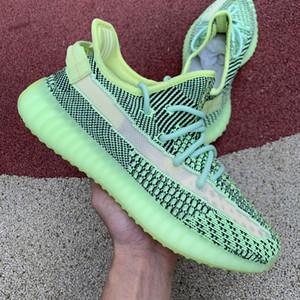 los hombres del diseñador de moda las mujeres Kanye a correr los zapatos de baloncesto de la estrella de plataforma para hombre zapatillas de deporte zapatilla de deporte de lujo de calcetines verdes