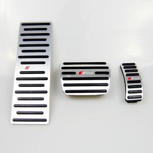 No profundizar la aleación de aluminio del coche de reposapiés cojines del pedal Tapa con pedales Resto Resto Fit Gas freno de pedal para Audi A4 A5 A6 Q5 EN LHD con Sline Logo