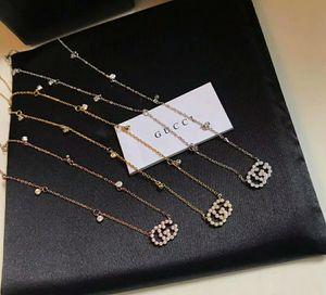 Designer di lusso collane del Choker Gioielli per le donne 2020 Collana in Oro strass completa argento 925 NUOVO delle signore di marca