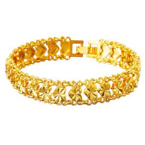 Classiv Forever Love Ascolta Catena Bracciale oro giallo 18k ha riempito il braccialetto delle donne di modo grazioso regalo dei monili 195 millimetri lungo
