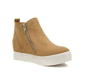 MoneRffi Kadınlar Sneakers Casual Ayakkabı Flats 2019 Kadınlar Leaopard Flats Platformu Bahar Yüksek Üst Kayma-on Nefes Kadınlar Canvans