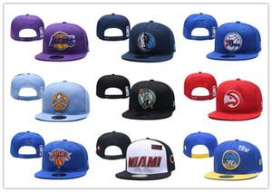 2019 Nouveau baseball réglable Hip hop Snapbacks chapeau plat Équipe sportive La broderie de haute qualité pour les hommes Caps et sans cap de basket-ball femmes