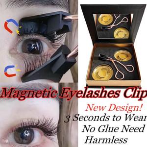1Set Magnetic Wimpern Applicator Clip Need Easy Apply Wimpern handgemachte wiederverwendbare Doppelmagneten Wimpernverlängerung Kein Kleber Set