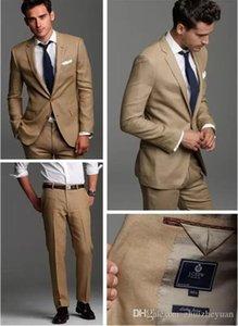 2019 Boda de moda Esmoquin de dos botones Ropa de novio personalizada Trajes de boda para hombres Dos piezas Hombres Traje Novio Esmoquin (chaqueta + pantalones)