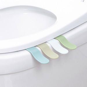 Пластиковая крышка туалета подъемная ручка гигиенические унитаза крышка сиденья крышка ручка крышки с наклейкой Путешествия Домашняя ванная комната Туалеты подъемное устройство TGQ01