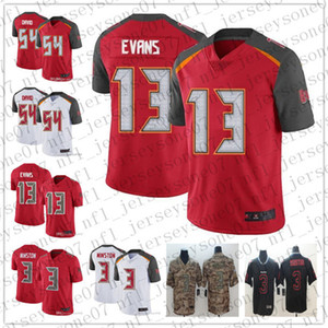 Uomini Donne Tampa Bay YouthBuccaneers3 Jameis Winston 13 Mike Evans 54 Lavonte David 45 Devin nero rosso pullover di football