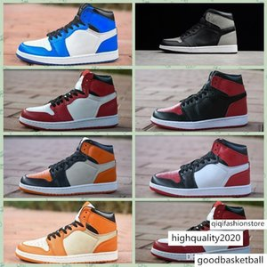 J001HA Phantom Not for Resale 1s Shoes 1 Mens Shattered Backboard Rookie of The Year UNC Black Bred Toe Trainer Sports Sneakers
