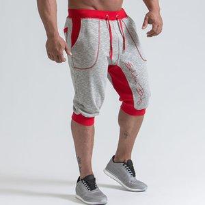 Pantaloncini da palestra da uomo in esecuzione jogging Sport all'aria aperta fitness ritagliata pantaloni sportivi allenamento maschile Crossfit abbigliamento pantaloni corti C190420