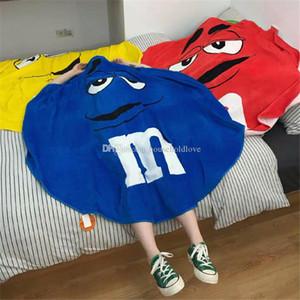 Cute creative Throw Blanket 1.5 Meter Bath Towel Four Color M Bean Round Eggs Quilt Qhild Air Conditioner Quilt Gift