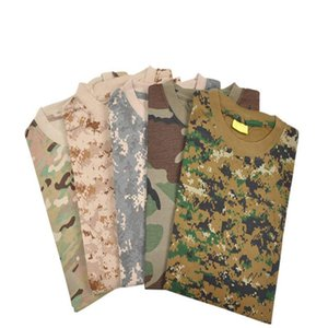 2015 New arrival Short Sleeve T-Shirt For Men Military Tactical Camouflage T Shirt Woodland Camo