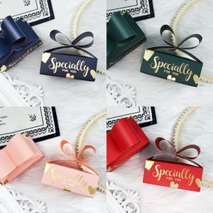 Specialmente di carta di caramella di caramella di cerimonia nuziale di favori di Storage Box INS Bow Forma favori di partito Gift Boxes
