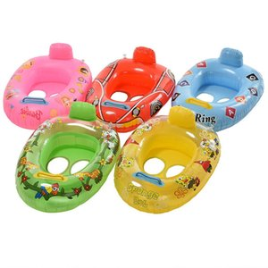 Inflatable Swimming Circles Kids Baby Swimming Seat Swim Ring Pool Aid Trainer Beach Floating Boat for 2-5 Years old Kid