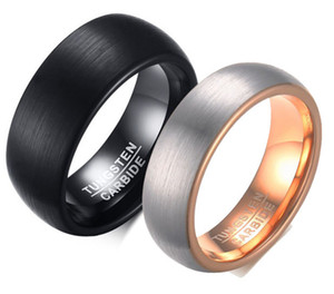 8 MM Hochzeit Wolfram Ring Sehr Nizza Hochzeitsband Hartmetall Ring Rose Gold Farbe Ring Mit Alle Pinsel Finish Drop Shipping