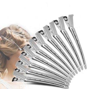Livraison gratuite Clip de la salon de coiffure en acier inoxydable salon de coiffure dédié pince à cheveux extension de la section de cheveux clips 9cm