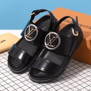 Neue Frauen Sandalen SCHEIDEWEG COMFORT SANDELHOLZE Luxus-Designer-Schuhe 1A5BII Freizeitschuhe Glasierte Kalbsleder höchster Qualität Größe 35-41