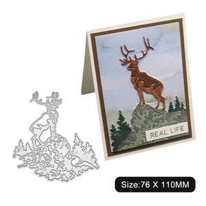Elk Kesme Kalıplar Metal Elek DIY Scrapbook Kart Albüm Kağıt Kabartma El Kesme Dekor Hayvan Deer Die