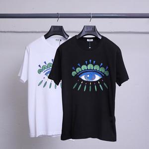 Hombres Mujeres recién Brandt-Shirts designershirts las camisas de lujo Calle Hiphop camisetas del verano patrón de manga corta con capucha A1 B105574L