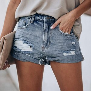 Sexy Ripped Jeans For Women Pocket Jeans Denim Pants Female Hole Bottom Sexy Casual Shorts 2020 Summer Beach Party Shorts#G30