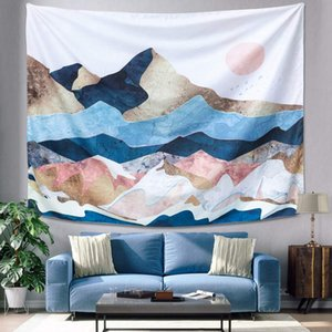Best Mountain Sunset Tapestry, Color Mountain Wall Hanging Tapestry, Sunset Nature Landscape Art Wall Hanging, Mural for Bedroom