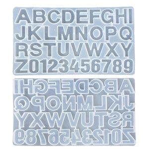 Resina di silicone Piccolo fai da te Stampo per lettere Lettera Mold Alfabeto numero silicone modella Numero Alfabeto Gioielli Portachiavi Casting Mold