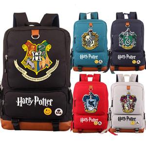 Hogwarts Slytherin Gryffindor School Boy Magic Girl Bolsas para mujeres adolescentes Bagpack Schoolbags lona de los hombres de Estudiantes Mochila PacksackMX190903