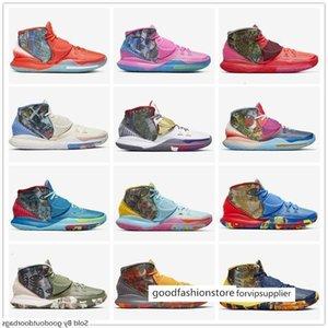 Préchauffez NYC Miami Houston Mens Basketball Chaussures Kyrie 6 Tokyo Guérir Designer Monde Sneakers CN9839-100-404-401