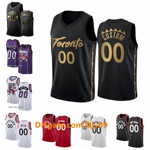 Özelleştirilmiş TorontoRaptorsJersey Erkekler Kadınlar Kid Özel Ad Numara 17 Lin 2 Leonard 43 Siakam Basketbol Formalar Beyaz Siyah Kırmızı